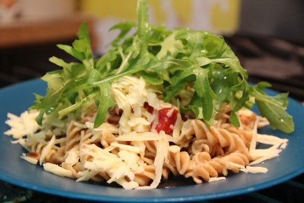 Pasta and Tinned Tomatoes and Rocket