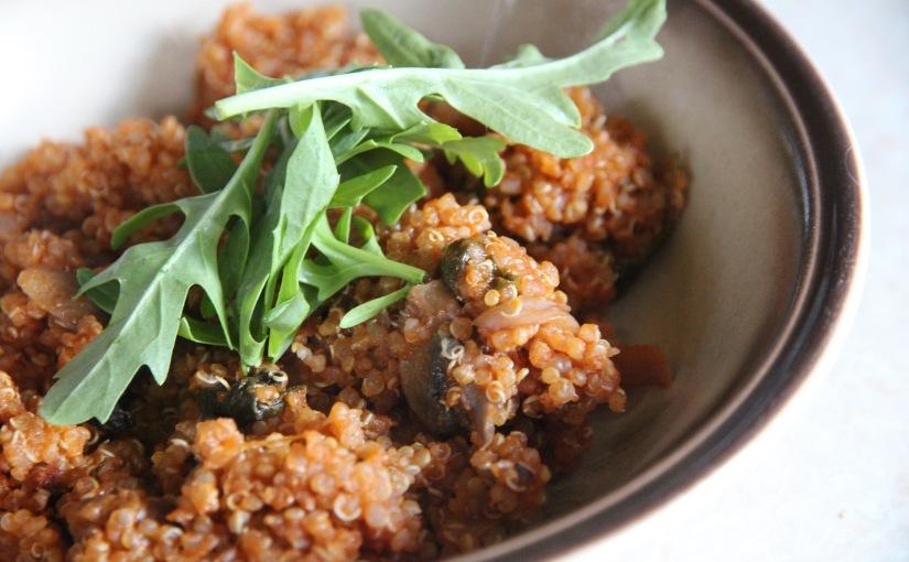 Mushroom Quinoa Pot